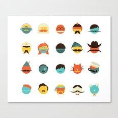 If I Had a Moustache Canvas Print