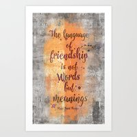 friendship Art Prints featuring Friendship by LebensART