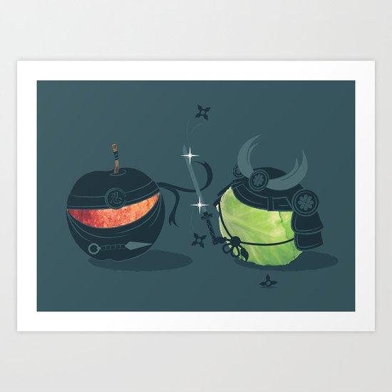 ninja vs samurai Art Print