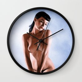Vintage Nude Pinup Wall Clock