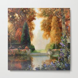 Silver and Gold - Luxuriant Autumn Garden by Thomas Mostyn Metal Print