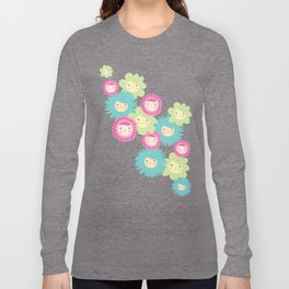 Happy Flower Faces Long Sleeve T-shirt