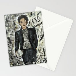 Nail Polish Painting of EXO chanyeol Stationery Cards