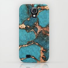 AQUA & GOLD GEMSTONE Galaxy S4 Slim Case