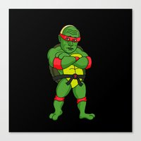 ninja turtle Canvas Prints featuring Teenage Putin Ninja Turtle by Chris Piascik