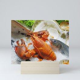 Fresh Market Seafood on Ice Mini Art Print