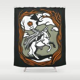 The Headless Horseman Illustration Shower Curtain