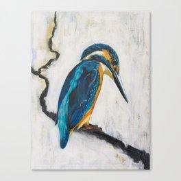 Winter Kingfisher Canvas Print