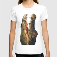 crocodile T-shirts featuring Crocodile by Anna Milousheva