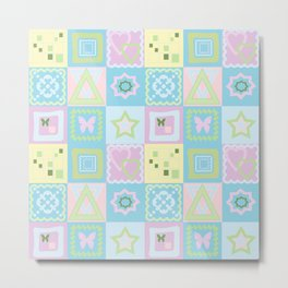 Delicate shades of baby pattern. Metal Print