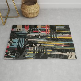 The Paper City- Abstract Landscape Rug