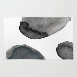 Standing Stones Blue Grey Abstract Art Rug