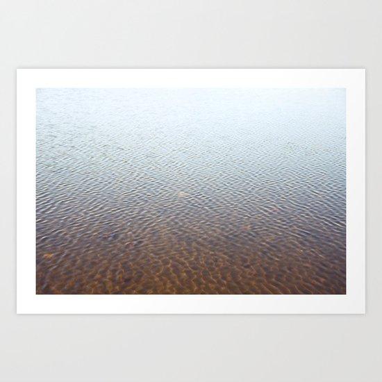 Silent water Art Print