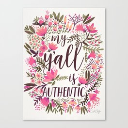 My Y'all is Authentic – Vintage Palette Canvas Print