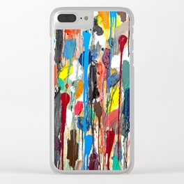 Paint upwards Clear iPhone Case