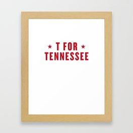 T FOR TENNESSEE Framed Art Print