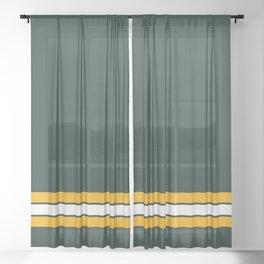 Green bay graphic Sheer Curtain