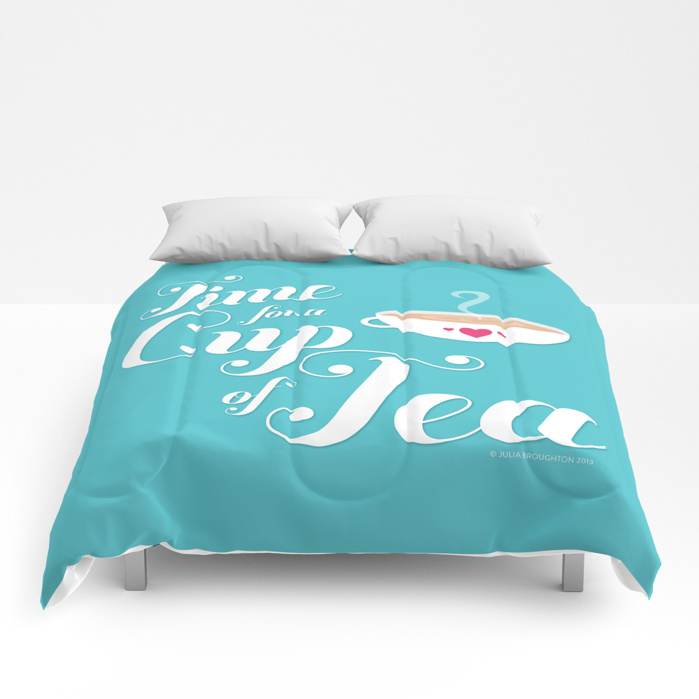 Time For A Cup Of Tea Comforter by Illustrationbyjulia CMF908522