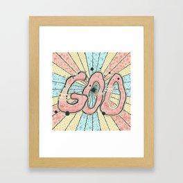 Goo! Framed Art Print