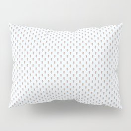 Hedgehog Forest Friends All-Over Repeat Pattern on Baby Blue Pillow Sham