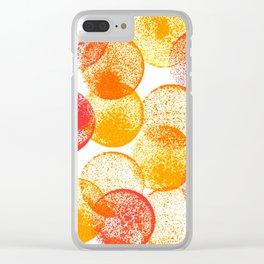 Saffron and Oranges Clear iPhone Case