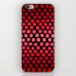 Juicy Red Apple Ombre Dots iPhone Skin