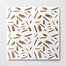 Blunts & 40s Allover Print Metal Print