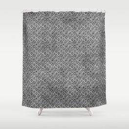60s - Black abstract pattern on concrete - Mix & Match with Simplicty of life Shower Curtain