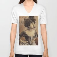 postcard V-neck T-shirts featuring ''Postcard'' by Nina Petrova
