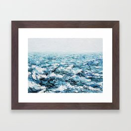 Atlantic Blues Framed Art Print