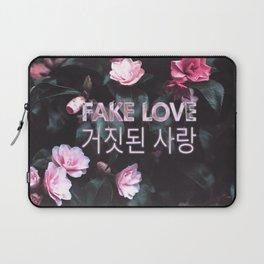 Fake Love Pink Floral Laptop Sleeve
