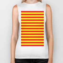china kyrgyzstan spain flag stripes Biker Tank