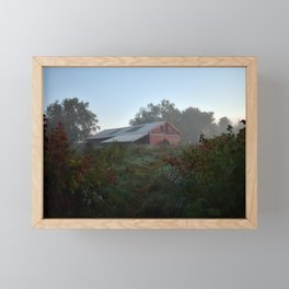 Red Barn, River Point, Falmouth, Maine Framed Mini Art Print
