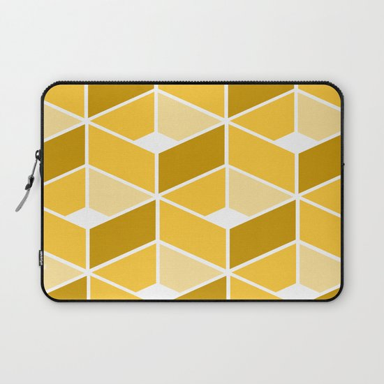 Simple Pattern Yellow Laptop Sleeve