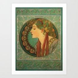 Alphonse Mucha Laurel Art Print