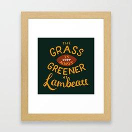 The Grass is Always Greener in Lambeau Framed Art Print