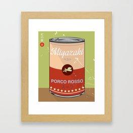 Porco Rosso - Miyazaki - Special Soup Series  Framed Art Print