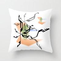 random Throw Pillows featuring Random by Robin Curtiss