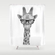 Hipster Giraffe Shower Curtain