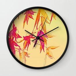 Autumn magic leaves Wall Clock