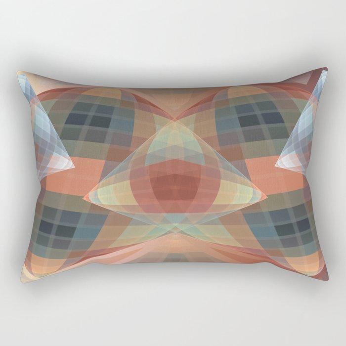 Diamonds and patterns, trendy geometric abstract Rectangular Pillow
