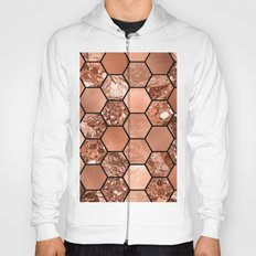 Rose gold hexaglam Hoody