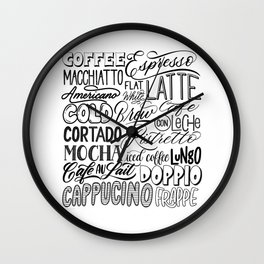 All the ways to coffee Wall Clock