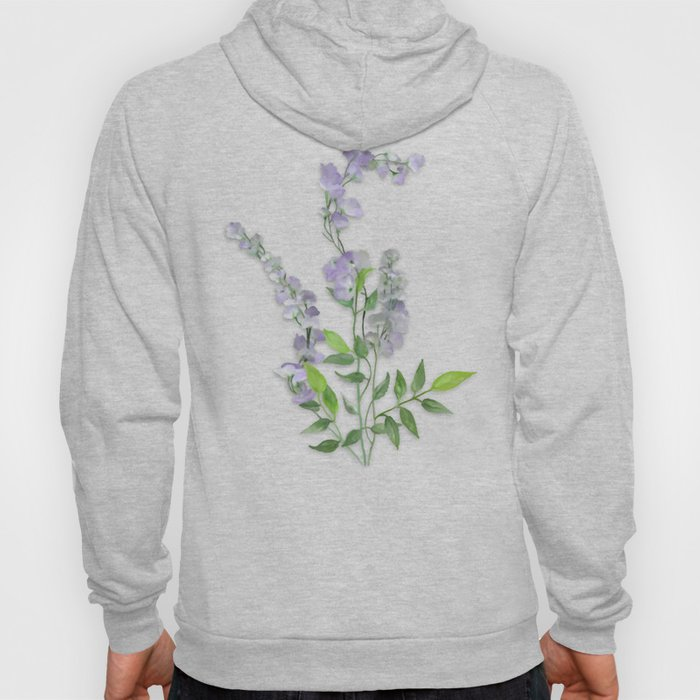 Purple Tiny Flowers Hoody