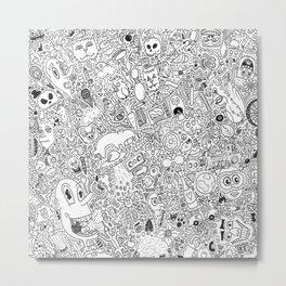 Random Doodles Metal Print