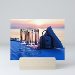 Aegean Summer Evening Mini Art Print