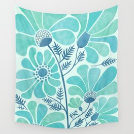 Himalayan Blue Poppies Wall Tapestry