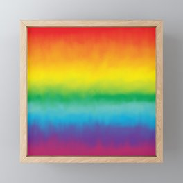Watercolor Rainbow Framed Mini Art Print