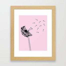 Dandelion Breeze Framed Art Print