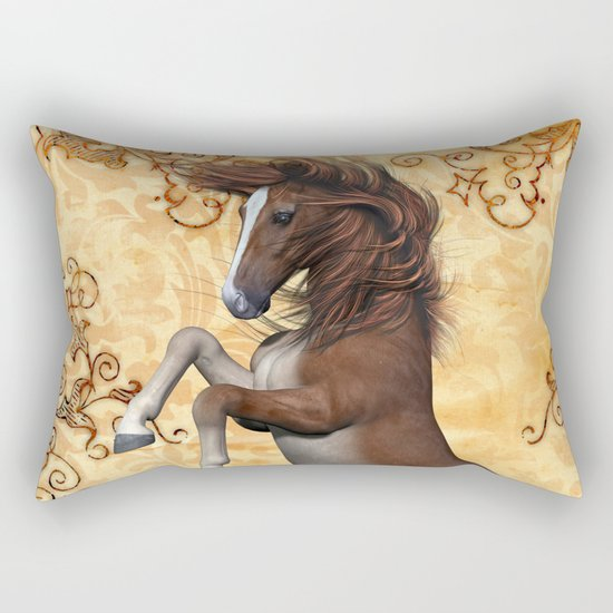 Awesome brown horse  Rectangular Pillow